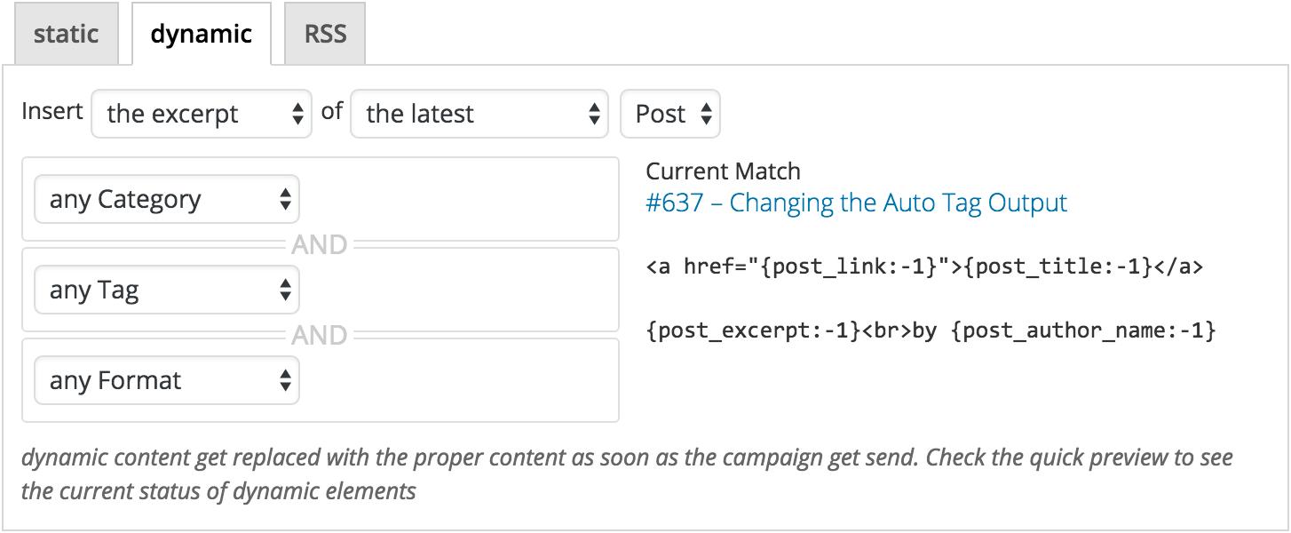 editbar with custom auto tags