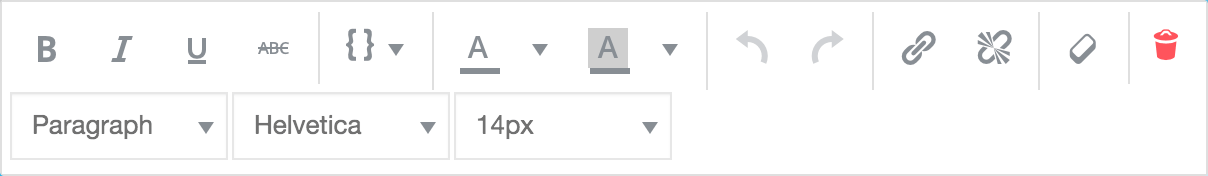 editor buttons